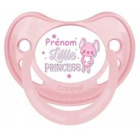 Sucette personnalisée little princess personnalisée