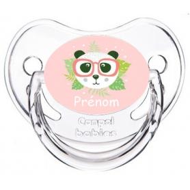 Sucette personnalisée panda lunette personnalisée