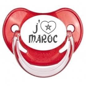 Sucette bébé love Maroc