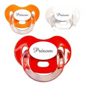 Sucettes personnalisées Charme (orange, rouge, blanche)