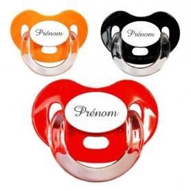 Sucettes personnalisées Charme (orange, rouge, noire)