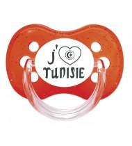 """Sucette bébé """"J'aime Tunisie"""""""