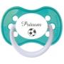Sucette personnalisée prénom football