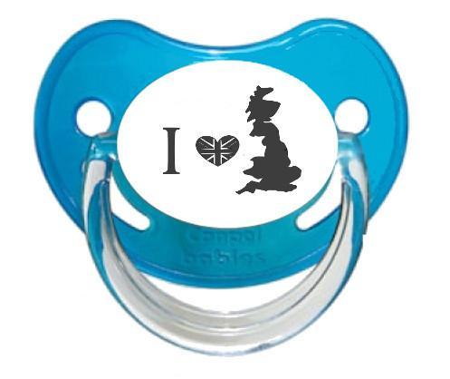 """Sucette bébé """"I love England"""""""