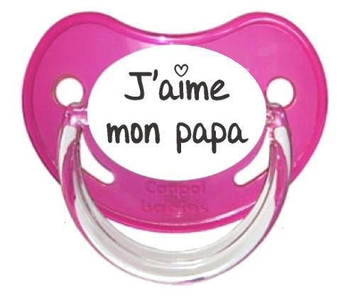 Sucette J'aime mon papa (visuel)