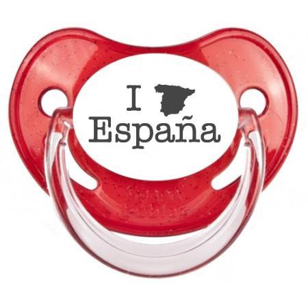 """Sucette bébé originale """"I love Espana"""""""