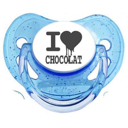 """Sucette bébé """"I love chocolat """""""