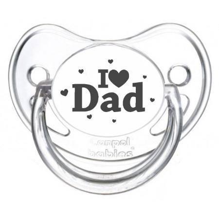 """Sucette bébé originale """"I love Dad"""""""