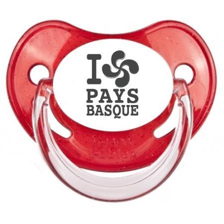 """Sucette bébé originale """"I love pays basque"""""""