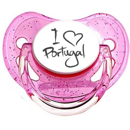 "Sucette bébé originale ""I love portugal"""
